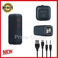 Беспроводная портативная Bluetooth колонка Hopestar P15 (Серая). Мощная, водонепроницаемая, USB, FM, акустика