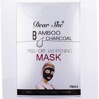 Маска для обличчя Dear she Bamboo Carcoal, фото 1