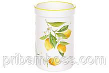 Подставка для кухонных принадлежностей керамическая Сочные лимоны