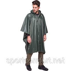Дождевик плащ-палатка пончо нейлон олива (107 х 145 см)