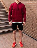 Чоловіче худі світшот трикотаж червоний S,M,L,XL|мужской худи спорт свитшот толстовка красный 44 46 48 50