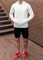 Чоловіче худі світшот трикотаж білий S,M,L,XL|мужской худи спорт свитшот толстовка белый 44 46 48 50