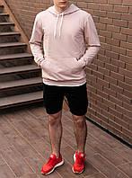 Чоловіче худі світшот трикотаж бежевий S,M,L,XL|мужской худи спорт свитшот толстовка бежевый 44 46 48 50