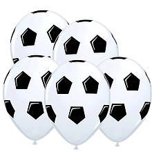 """Воздушные светящиеся шары LED футбольный мяч 12"""" (30 см) 5 шт"""