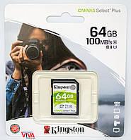 Kарта памяти Kingston SDHC 64GB Canvas Select Plus Class 10 UHS-I U1 V10 (SDS2/64GB)