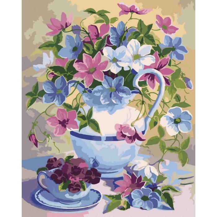 Картина по номерам Цветочная поэзия ТМ Идейка  40 х 50 см КНО2049