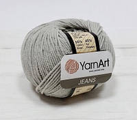 Пряжа Jeans 50гр - 160м (49 Серый) YarnArt 55 % хлопок, 45 % полиакрил, Турция