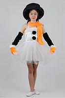 Карнавальний костюм Сніговичок для дівчинки