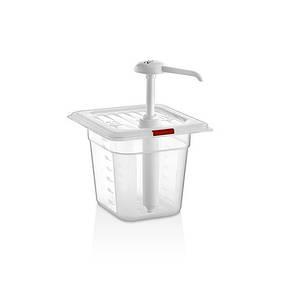 Дозатор для кетчупа с помпой 2 л., 17x23x30 см. (дозировка 20 мл) пластиковый, GastroPlast