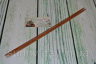 Спицы деревянные двусторонние 35см (набор 4шт) №3.0