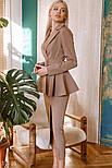 Діловий костюм зі спідницею міді, фото 3