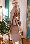 Діловий костюм зі спідницею міді, фото 4