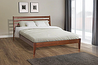 Кровать двуспальная деревянная Челси 180-200 см (лесной орех)