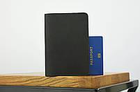 """Обложка для паспорта черного цвета """"london"""", фото 2"""