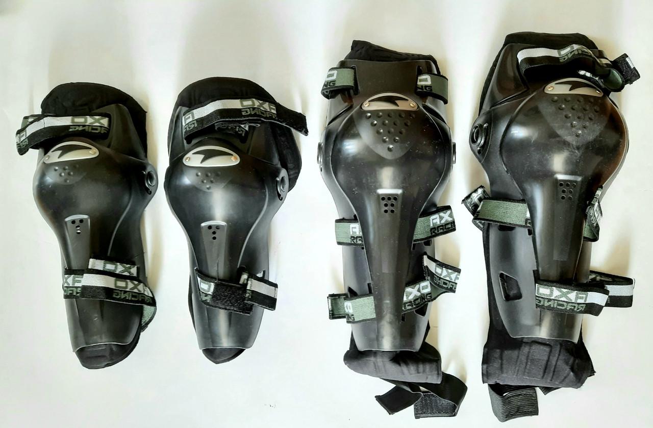Комплект мотозащиты (колено, голень + предплечье, локоть) 4шт AXO Защита мото Захист