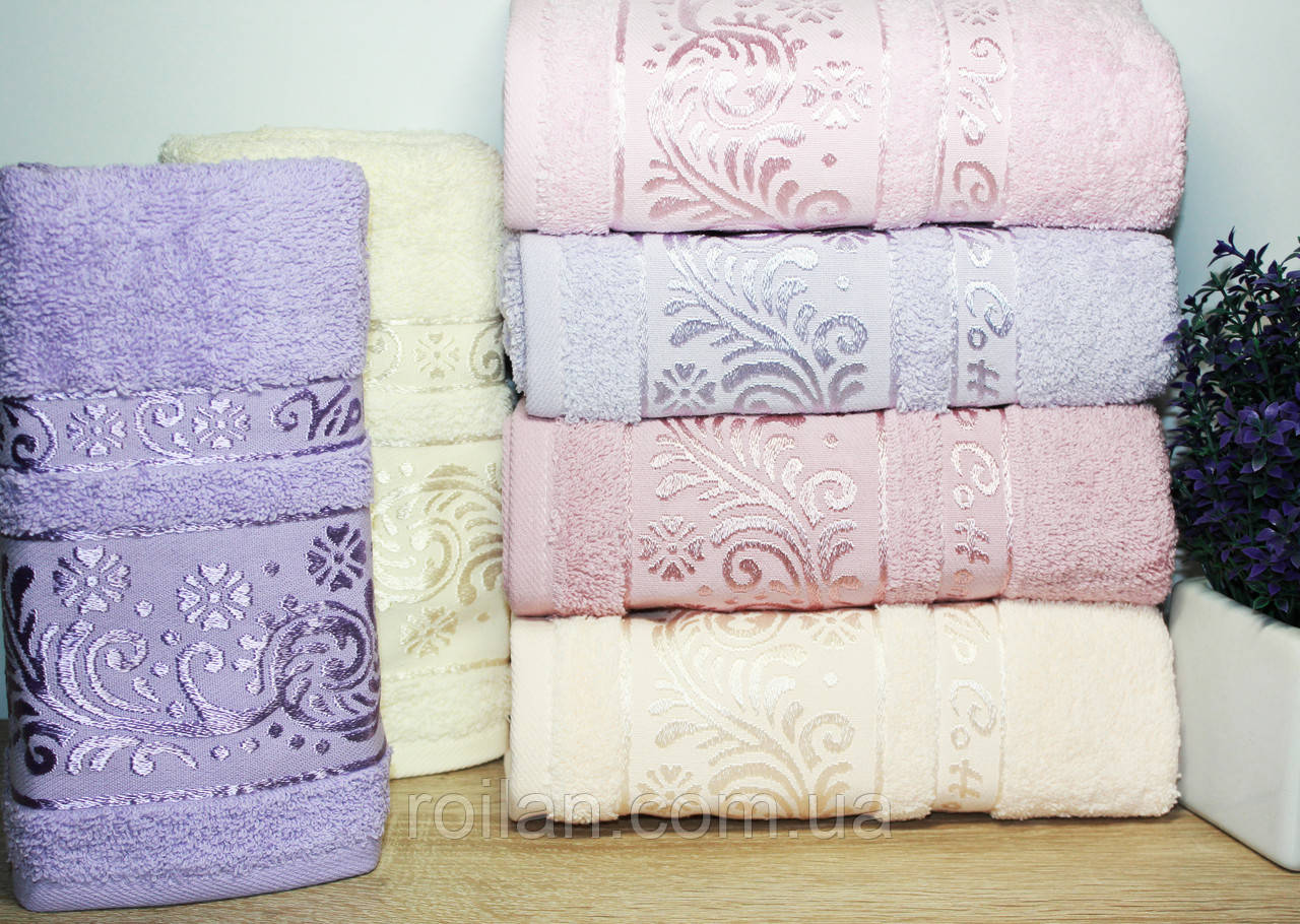 Лицевые турецкие полотенца ALINA