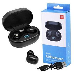 Bluetooth-наушники Redmi AirDotspro с кейсом, black, индикация заряда, фото 2