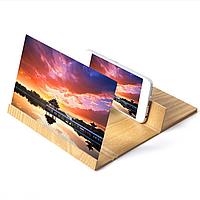 3D Увеличитель экрана для телефона Enlarget Screen Magnifier, линза Френеля, дерево, фото 1