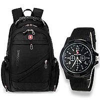 SwissGear+часы Водонепроницаемый Швейцарский рюкзак, фото 1
