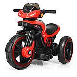 Дитячий електромобіль Мотоцикл з підсвічуванням, M 3927-3 червоний, фото 2