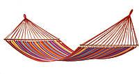 Мексиканский гамак хлопковый 200х120 см, двухместный гамак с планкой для отдыха, фото 1