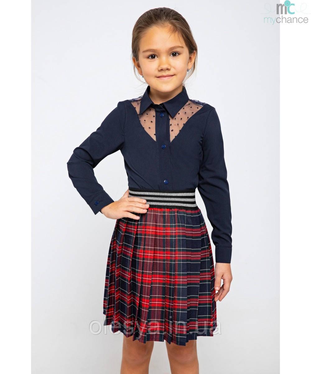 Школьная юбка для девочек в клетку 242 тм MyChance Размеры 116- 146