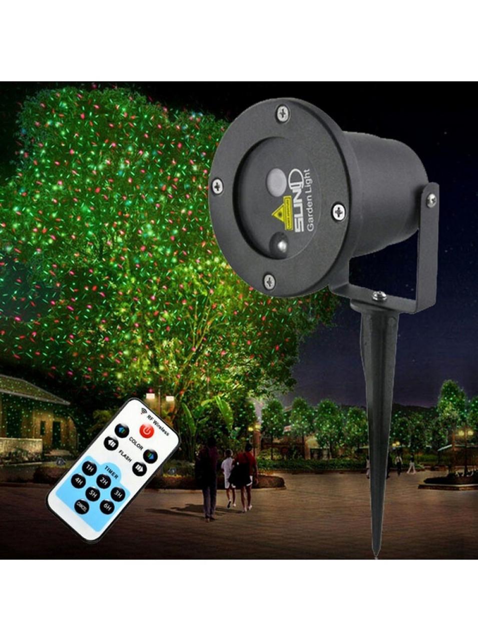 Уличный проектор с пультом Star Shower light laser металлический корпус