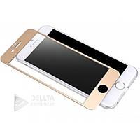 Защитное стекло для Iphone 6 / 6s plus золото, твердость 9H, углы закругленные, защитные стекла для Iphone, защитные пленки и стекла
