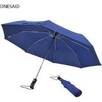 Зонтик одноцветной Umbrella темно-синий, механический, 6 спиц, полиэстер, мужской зонт, зонты, зонт