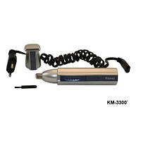 Триммер Мужской для удаления волос KM-3300, золотистый, встроенный аккумулятор, шнур, триммер для стрижки, стрижка волос, машинки для стрижки триммеры