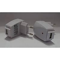 Адаптер сетевой СЗУ Home USB, 1000am, белый, пластик, зарядка для телефона, Зарядное устройство для телефона