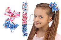 Резинка детская Frozen бантик цветная, заколка для девочек, аксессуары для создания причесок и образов, бижутерия для волос