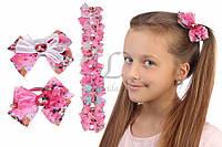 Детская резинка Azadirachta (розовая) бантик, резинка для девочек, аксессуары для создания причесок и образов, бижутерия для волос