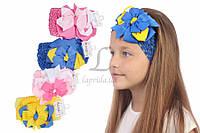 Детская повязка на голову Melia с двухцветным бантиком, аксессуары для создания причесок и образов, бижутерия для волос