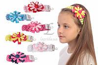 Детская повязка на голову Juncus с цветком разноцветная, аксессуары для создания причесок и образов, бижутерия для волос