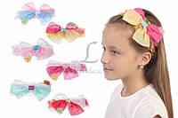 Детская повязка на голову Jacaranda с двойным бантиком разноцветная, тоненькая, аксессуары для создания причесок и образов, бижутерия для волос