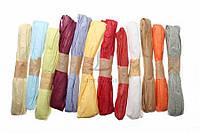 Рафия бумажная тонкая Hechtia, длина: 25 м, лента декоративная, шнур для украшения подарков