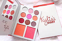 Палетка теней и румян Kylie Diary Pressed Powder Palette 11в1 разные цвета, гипоаллергенно, косметика, тени, пудра