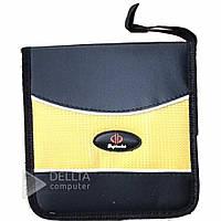 Сумка для дисков CD - holder 4040 черный - желтый, на молнии, тканевая, сумки для дисков, кейс для дисков, чехлы