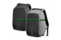 Городской рюкзак антивор Bobby Backpack серый, с USB-портом для зарядки, размеры 33х27х3,5см, Умный рюкзак антивор