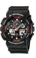 Спортивные наручные мужские часы Casio G-SHOCK-1 черно - красные, будильник, подсветка, реплика, наручные часы, Мужские часы