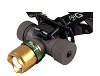 Налобный фонарик Bailong Police BL-6866 XPE Cree XML 800лм, три режима, Zoom, водонепроницаемый, фонарь, фонарики
