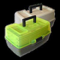 Ящик Aquatech 1703T для рыбалки, 3 полочки, пластик, размер 195х215х360мм, рыбацкий ящик, ящик для рыбацких снастей