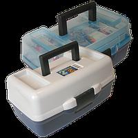 Ящик Aquatech 1702Т для рыбалки, 2 полочки, пластик, размер 185х305х150мм, рыбацкий ящик, ящик для рыбацких снастей