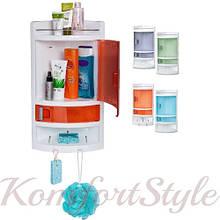Шкафчик угловой в ванную пластиковый, цвета в ассотрименте