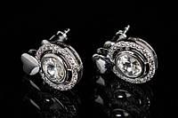 Серьги с кристаллами от Swarovski