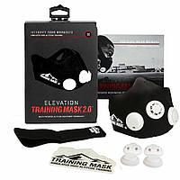 Маска для тренировки дыхания Training Mask Elevation 2.0 размер M, неопрен, на липучке, 7 колпачков сопротивления, спорт маски