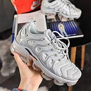 """Женские кроссовки в стиле Nike Air Vapormax Plus """"Silver"""""""