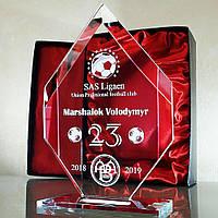 Кубки, награды, призы - Хрустальные кристаллы с 3D гравировкой