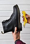 Женские зимние ботинки в стиле Dr. Martens Original c 8 парами люверсов с мехом